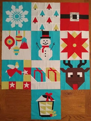 Blocks 1-10 for the I Wish You a Merry QAL