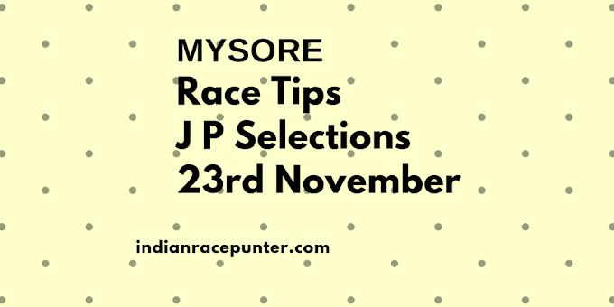 India Race Tips 23rd November, 2017