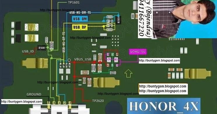 Huawei Honor 4X Charging USB Problem Solution Jumper Ways