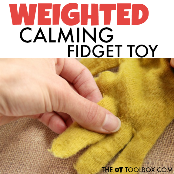 Use this weighted fidget toy with a glove to help kids attend and focus