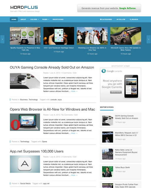 WordPlus – Responsive Magazine Theme