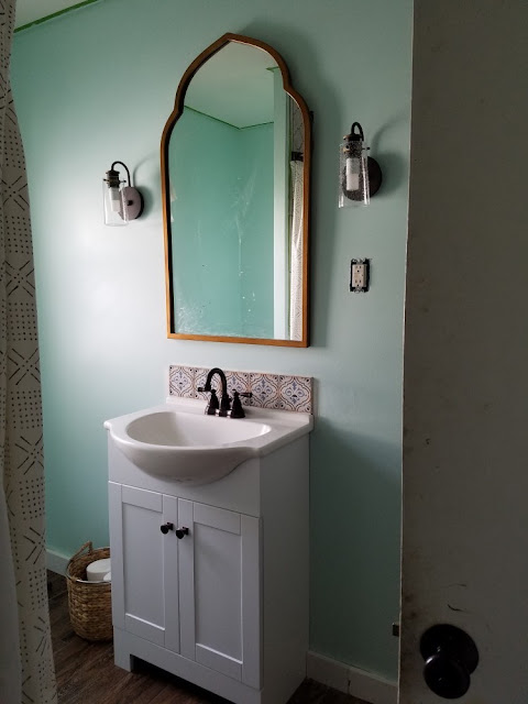 The Process Of Decorating A Bathroom - By The Boho Abode