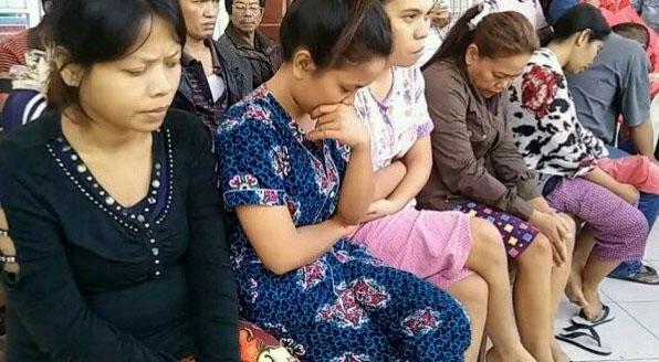 Para tersangka sindikat penjual bayi di Simalungun.