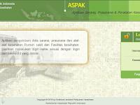 Aplikasi ASPAK, Aplikasi Sarana, Prasarana dan Peralatan Kesehatan Secara Online