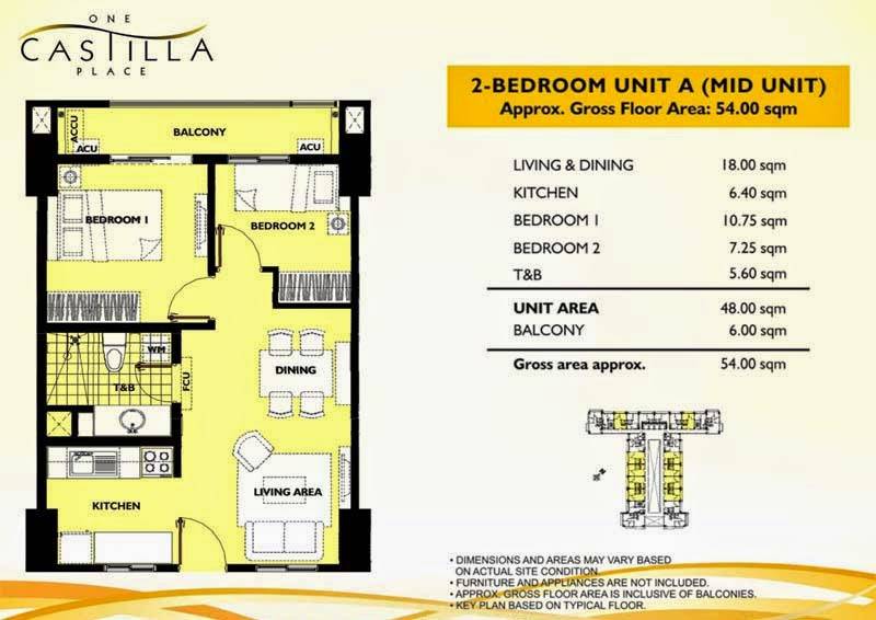 One Castilla Place 2 Bedroom Unit-A