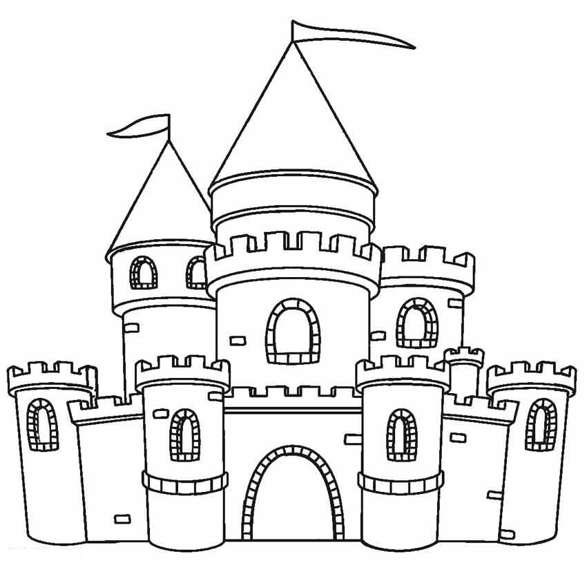 Desenhos De Castelo Simples Para Colorir E Imprimir