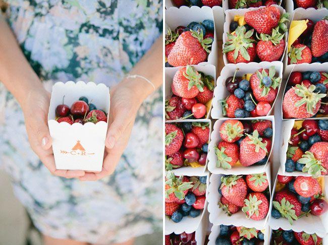 Fruta fresca para bodas