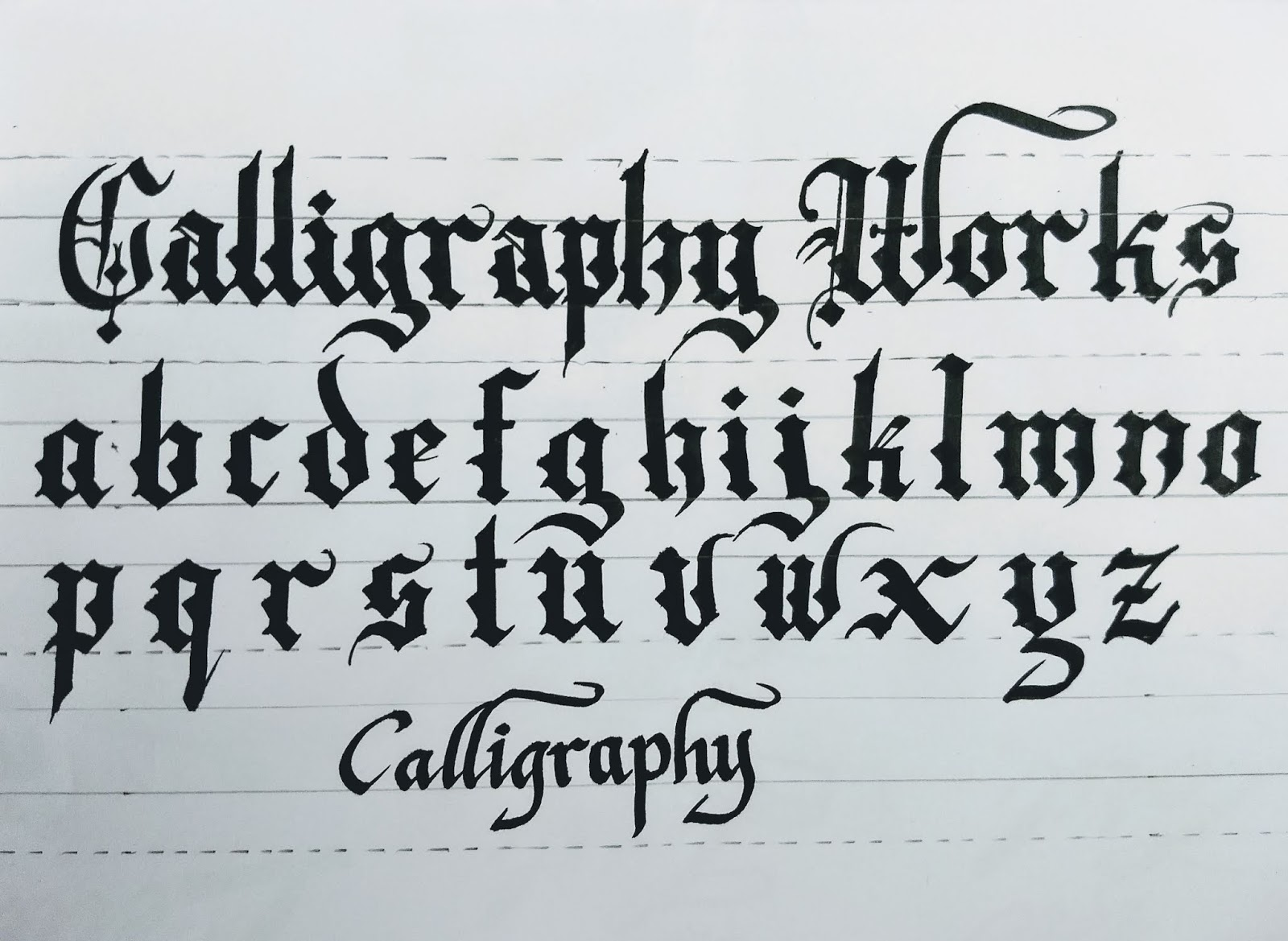 Artline Calligraphy Marker Pen Old English Font Or Gothic Style Very Easy And Simplejust You Need To Be Practice It See Below Figure