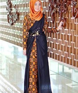Contoh Model Baju Batik Pesta Modern