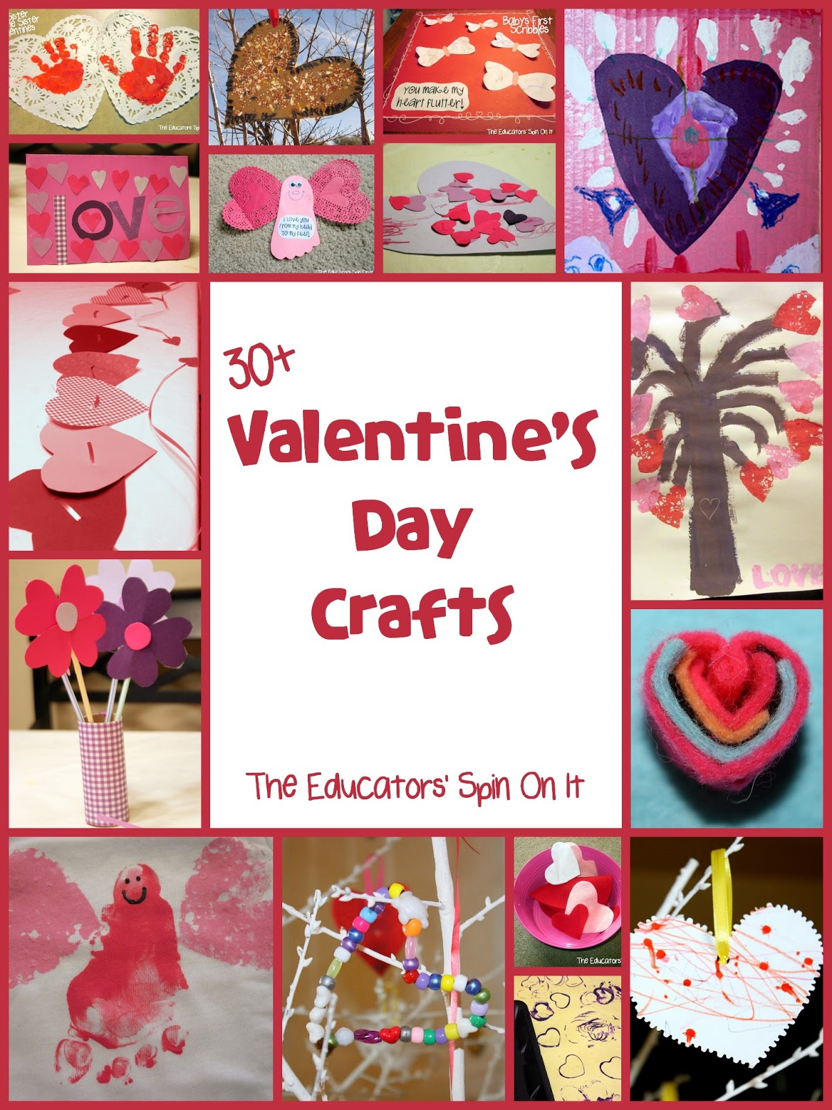 30 valentine 39 s day crafts and activities for kids the educators 39 spin on it. Black Bedroom Furniture Sets. Home Design Ideas