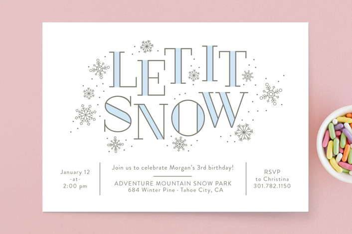 snowflake party invitations