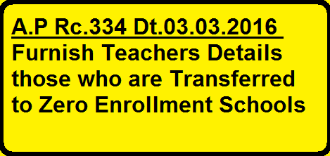 A.P Rc.334 Dt.03.03.2016 Furnish Teachers Details those who are transferred to 0 Enrollment Schools/2016/03/ap-rc334-dt03032016-furnish-teachers-details-transferred-zero-enrolment-schools.html