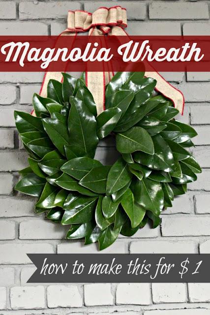 How to make a magnolia wreath