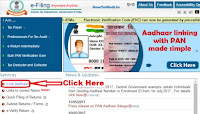 how to link pan card to aadhar card online