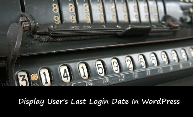 add users last login feature in WordPress