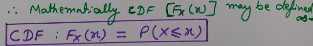 CDF Formula, Cumulative distribution function formula