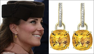 Kate Middleton Citrine Earrings - November Birthstone