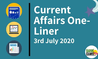 Current Affairs One-Liner: 3rd June 2020