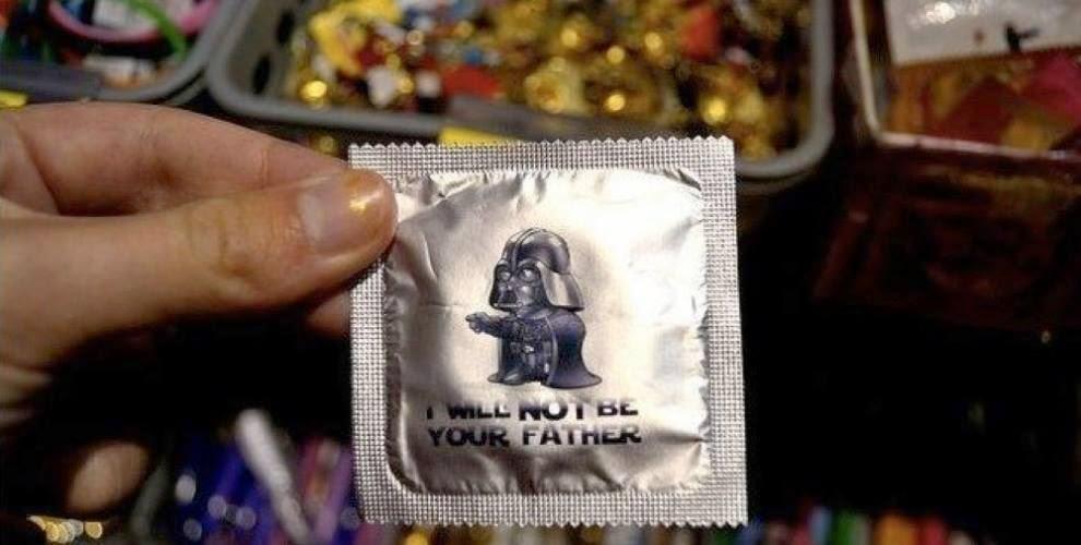 Preservativo con imagen de Darth Vader