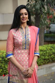 Actress Vimala Raman Stills in Beautiful Pink Salwar Kameez at (ONV) Om Namo Venkatesaya Press Meet  0081.JPG