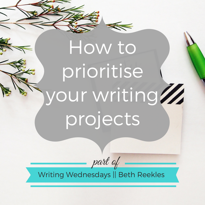 How do you prioritise your writing projects? I share a few pieces of advice in this post.