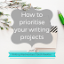 Writing Wednesdays: How to prioritise your writing projects