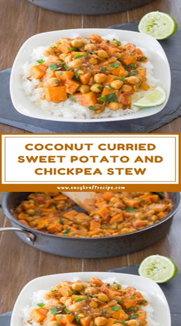 COCONUT CURRIED SWEET POTATO AND CHICKPEA STEW