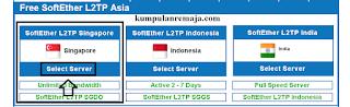 Memilih Region Di VPN Jantit