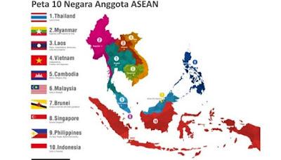 Peta Masyarakat Ekonomi Asean