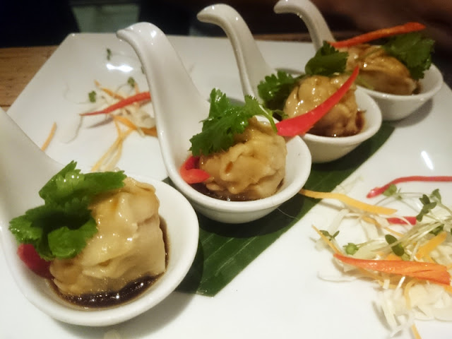 pork dumplings - giggling squid brighton