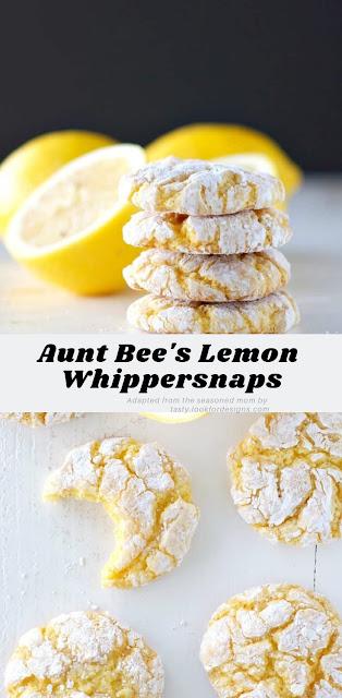 Aunt Bee's Lemon Whippersnaps Cookies