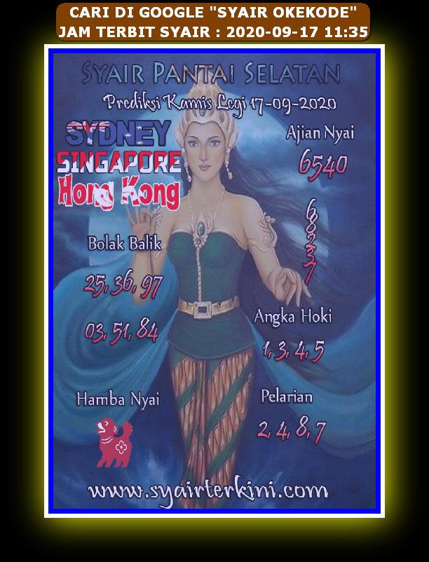 Kode syair Hongkong Kamis 17 September 2020 209