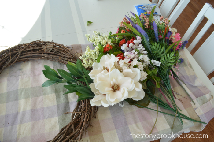 Spring wreath supplies