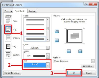 Tutorial lengkap cara membuat page border atau bingkai halaman di microsoft word