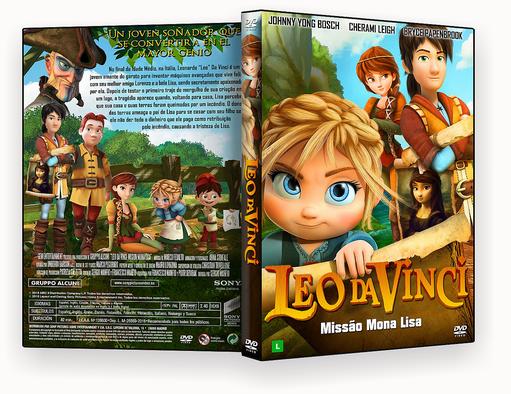 CAPA DVD – Leo Da Vinci Missão Mona Lisa AUTORADO