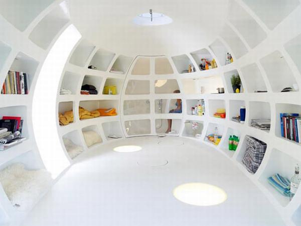 Extraordinaria casa en forma de huevo.