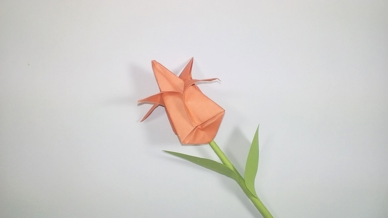 Easy Paper Origami Origami Tulip Flower How To Make A Paper Tulip