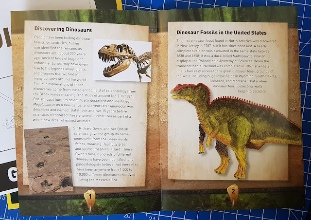STEM dig kits booklet featuring dinosaur bones found in USA