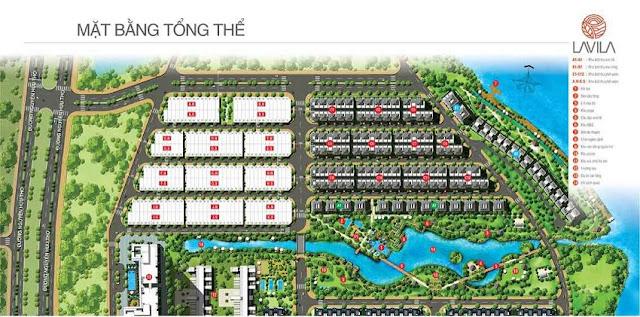 Dự án Lavila Nam Sài Gòn dành nhiều không gian cho mảng xanh và tiện ích.