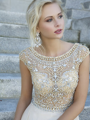 Sheath/Column Scoop Rhinestone Prom Dresses/Evening Dresses #GX453