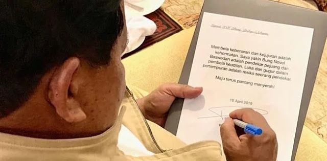 Pesan Prabowo untuk Novel Baswedan: Bela Kebenaran adalah Kehormatan!