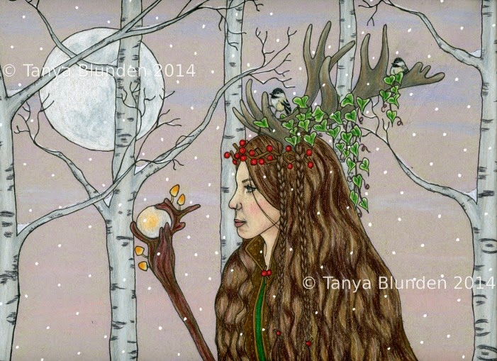 Lady of The Wood by Enchanted Visions Artist, Tanya Blunden