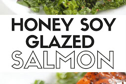 Honey Soy Glazed Salmon with Spicy Kale Salad