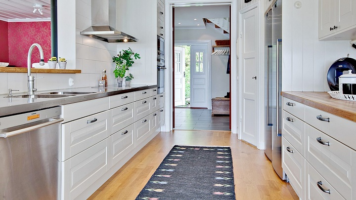 Um tapete em cada divis o da casa decora o e ideias - Como distribuir una cocina ...