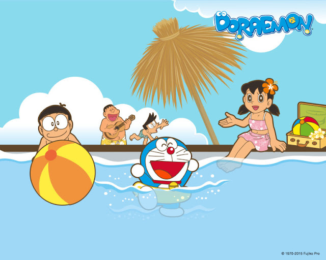 Doraemon And His friend summer Beach HD Wallpapers