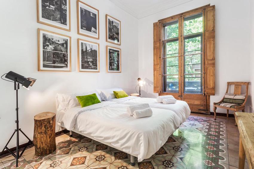 dormitorio hotel en barcelona