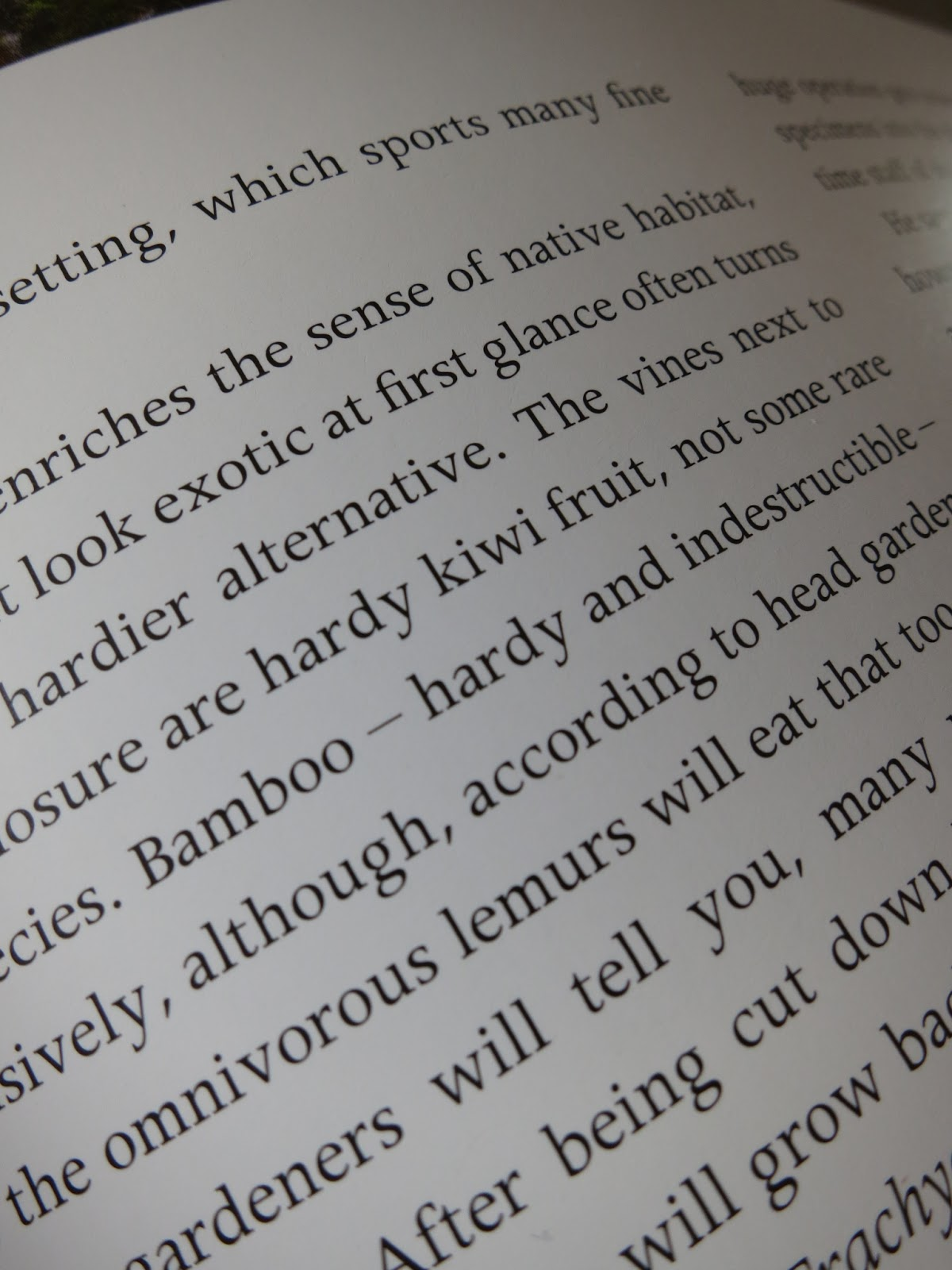Loose and Leafy photo of p. 63 of Secret Gardens of the Cotswolds - lemurs and bamboo