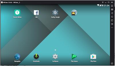 Android rodando no PC utilizando o MEmu