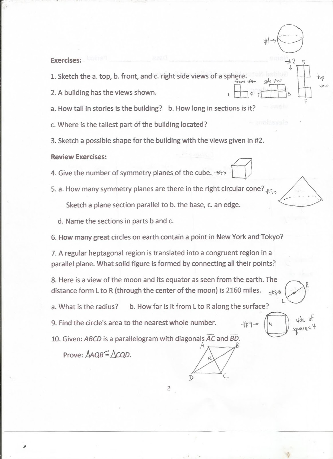 worksheet Congruent And Similar Figures Worksheet geometry common core style january 2018 the worksheet with examples of both a 3d figure such as pyramid and block building similar to 2 on back respective front right