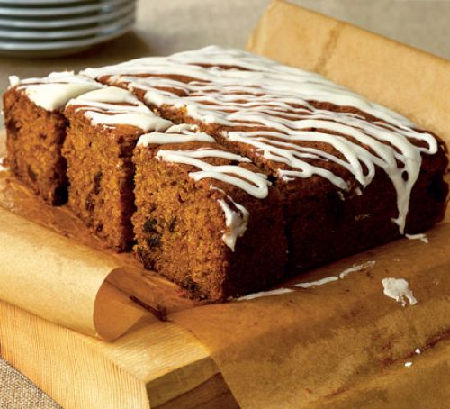 Delight friends amongst an afternoon tea that includes this dairy Yummy scrummy carrot cake